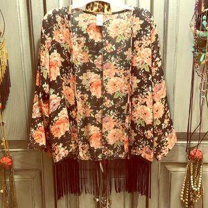 Accessories - Fringe kimono